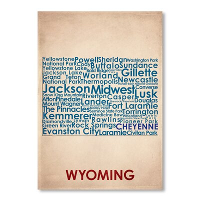 Americanflat Wyoming Typography on Canvas