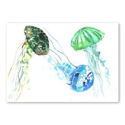 Americanflat Jellyfishes by Suren Nersisyan Art Print