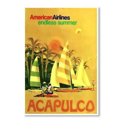 Americanflat Acapulco by Chad Hyde Vintage Advertisement Wrapped on Canvas