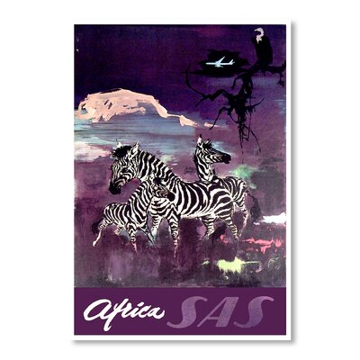 Americanflat Africa by Chad Hyde Vintage Advertisement in Purple