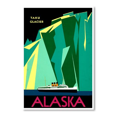 Americanflat Alaska Taku Glacier by Chad Hyde Vintage Advertisement in Green