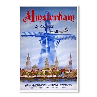 Americanflat Amsterdam by Clipper by Chad Hyde Vintage Advertisement Wrapped on Canvas