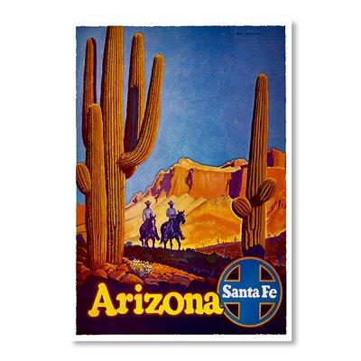 Americanflat Arizona Santa Fe by Chad Hyde Vintage Advertisement on Canvas