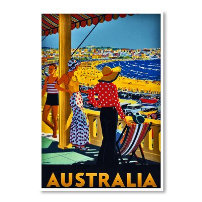 Americanflat Australia by Chad Hyde Vintage Advertisement Wrapped on Canvas