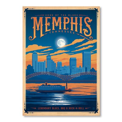 Americanflat Memphis by Anderson Design Group Vintage Advertisement Wrapped on Canvas