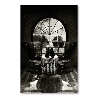 Americanflat Room Skull by Ali Gulec Graphic Art in Black