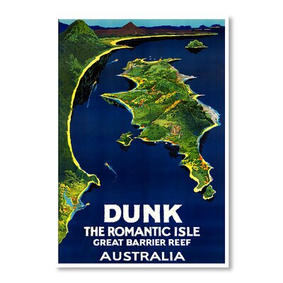 Americanflat Australia Romantic Isle by Chad Hyde Vintage Advertisement