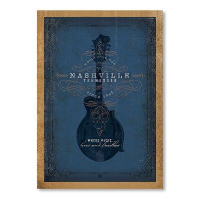 Americanflat Son Blue Mandolin by Anderson Design Group Vintage Advertisement in Blue