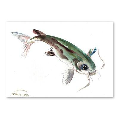 Americanflat Fish III by Suren Nersisyan Art Print in Green