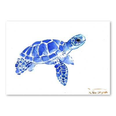 Americanflat Tortoise Blue II by Suren Nersisyan Art Print in Blue
