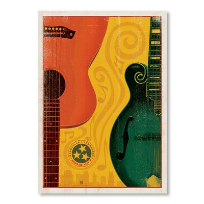 Americanflat Son Guitar Mandolin by Anderson Design Group Vintage Advertisement Wrapped on Canvas