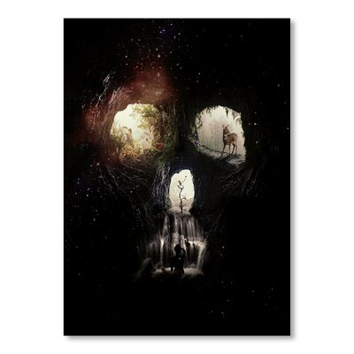 Americanflat Caves by Ali Gulec Graphic Art in Black
