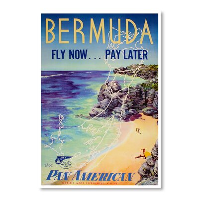 Americanflat Bermuda by Chad Hyde Vintage Advertisement on Canvas
