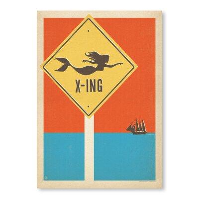 Americanflat Mermaid X-ing by Anderson Design Group Graphic Art in Orange