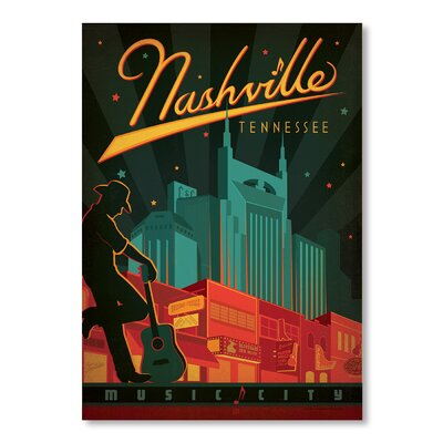 Americanflat Son Nashville Broadway by Anderson Design Group Vintage Advertisement Wrapped on Canvas