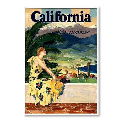 Americanflat California This Summer by Chad Hyde Vintage Advertisement Wrapped on Canvas