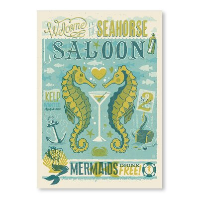 Americanflat Seahorse Saloon by Anderson Design Group Vintage Advertisement Wrapped on Canvas