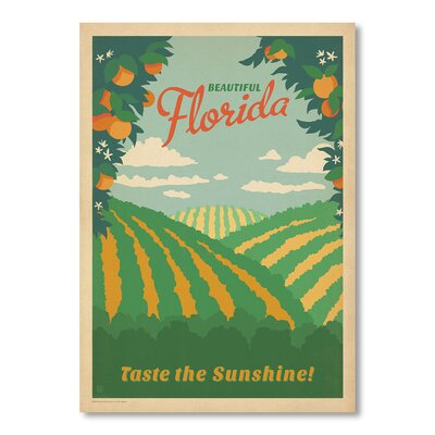Americanflat Florida by Anderson Design Group Vintage Advertisement Wrapped on Canvas