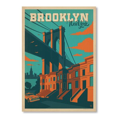 Americanflat Brooklyn New York  Vintage Advertisement Wrapped on Canvas