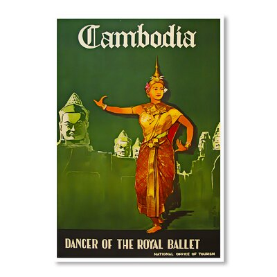 Americanflat Cambodia by Chad Hyde Vintage Advertisement on Canvas