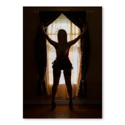 Americanflat Window Girl by Lina Kremsdorf Photographic Print in Black