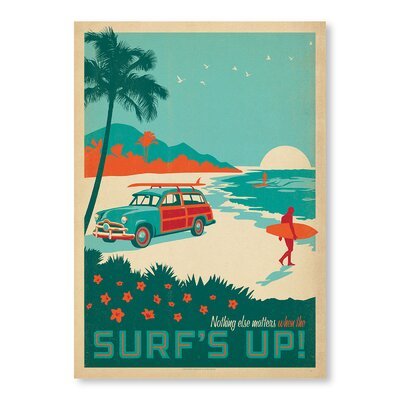 Americanflat Surf is Up by Anderson Design Group Vintage Advertisement Wrapped on Canvas