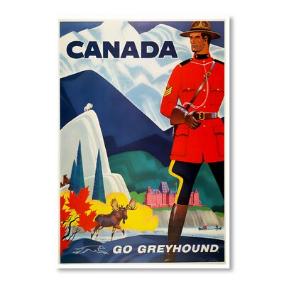 Americanflat Canada Go Greyhound by Chad Hyde Vintage Advertisement on Canvas