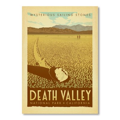Americanflat National Park Death Valley by Anderson Design Group Vintage Advertisement in Brown