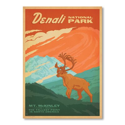Americanflat National Park Denali by Anderson Design Group Vintage Advertisement Wrapped on Canvas