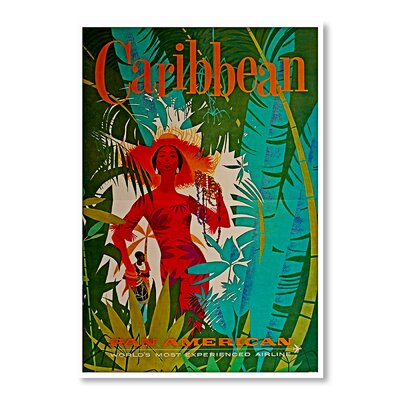 Americanflat Caribbean by Chad Hyde Vintage Advertisement Wrapped on Canvas
