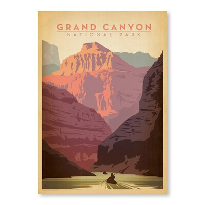 Americanflat Grand Canyon National Park by Anderson Design Group Vintage Advertisement Wrapped on Canvas