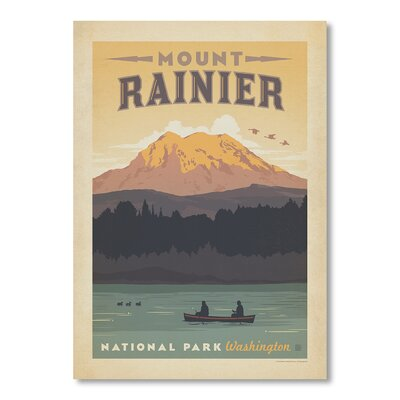 Americanflat National Park Mt. Rainier by Anderson Design Group Vintage Advertisement Wrapped on Canvas