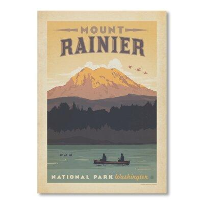 Americanflat National Park Mt. Rainier by Anderson Design Group Vintage Advertisement