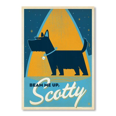 Americanflat Beam Me Up, Scotty by Anderson Design Group Vintage Advertisement in Blue