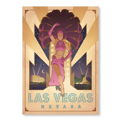 Americanflat Las Vegas Show Girl by Anderson Design Group Vintage Advertisement Wrapped on Canvas