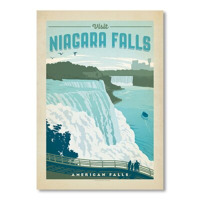 Americanflat National Park Niagra by Anderson Design Group Vintage Advertisement in Blue