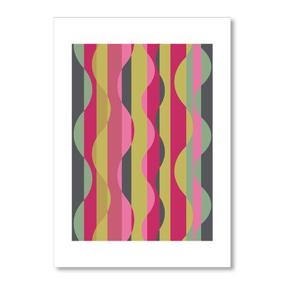 Americanflat Wave Pink by Liz Lyons Graphic Art Wrapped on Canvas