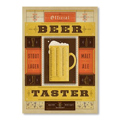 Americanflat Beer Taster by Anderson Design Group Vintage Advertisement Wrapped on Canvas