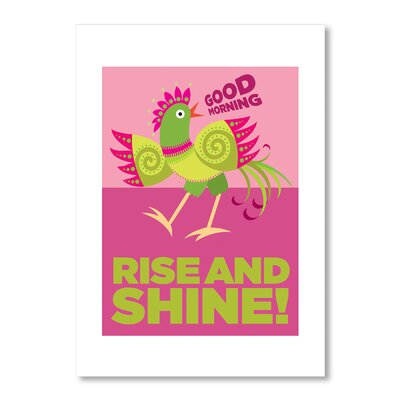 Americanflat Rise and Shine by Liz Lyons Graphic Art in Pink