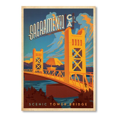 Americanflat Sacramento by Anderson Design Group Vintage Advertisement Wrapped on Canvas