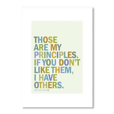 Americanflat Groucho Principles Typography on Canvas