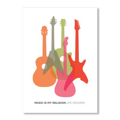 Americanflat Music Is My Religion by Liz Lyons Graphic Art