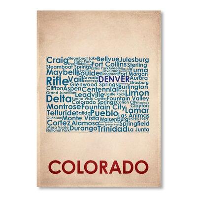 Americanflat Colorado Typography on Canvas
