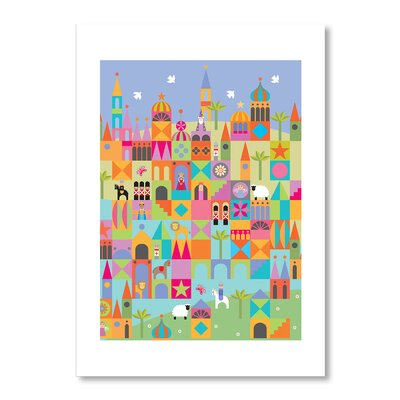Americanflat Toytown Graphic Art Wrapped on Canvas