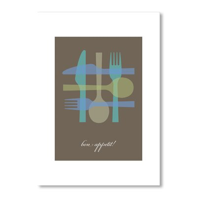 Americanflat Bon Appetit by Liz Lyons Graphic Art in Brown