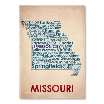 Americanflat Missouri Typography on Canvas
