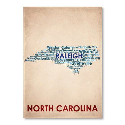 Americanflat North Carolina Typography on Canvas