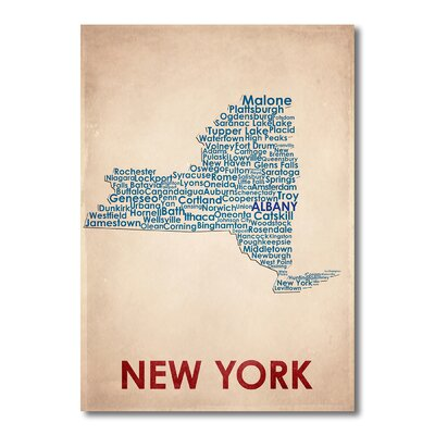 Americanflat New York Typography on Canvas