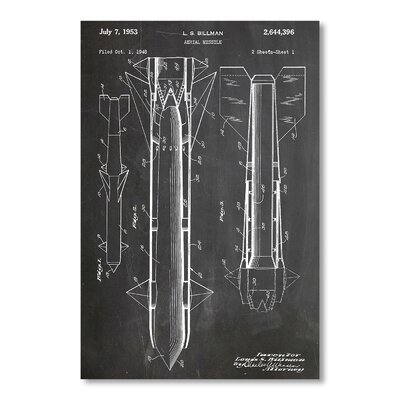 Americanflat Aerial Missile by House of Borders Graphic Art in Grey