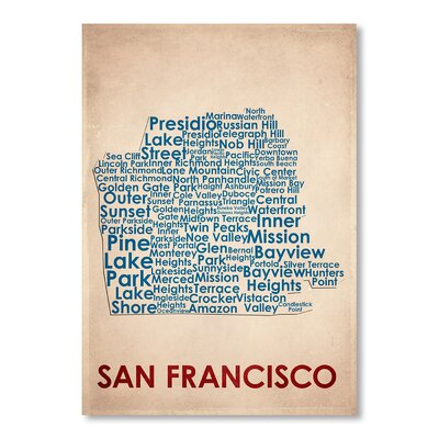 Americanflat San Francisco Typography Wrapped on Canvas